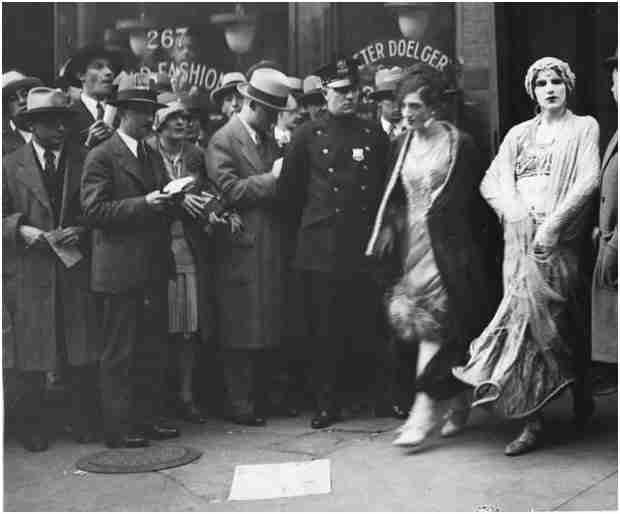 Mae West being arrested